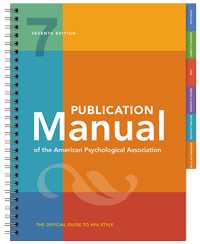 7th Edition of the Publication Manual book cover