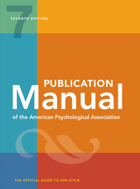 Publication Manual Of The American Psychological Association Seventh Edition 2020