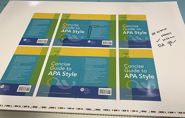 Concise Guide to APA Style at the printer, cover